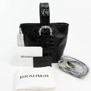 Brahmin Womens 3 In 1 Bucket Crossbody Bag Black